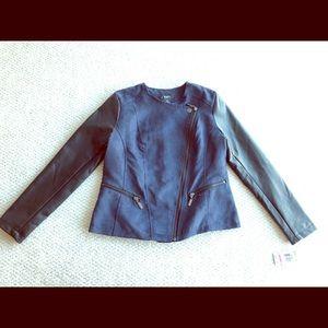 Alfani Vegan Suede Leather Jacket, Royal Blue, NWT